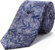 Paul Costelloe , Skinny Purple Ornamental Fern Tie, Purple