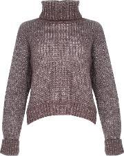 Alice & You , Knitted Roll Neck Jumper, Lilac