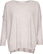 Great Plains , Rania Cashmere And Wool Blend Jumper, Purple