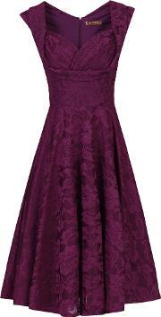 Jolie Moi , Ruched Crossover Bust Prom Dress, Dark Purple