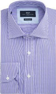 Paul Costelloe , Men's  Nelson Gingham Check Shirt, Purple