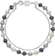 Dower & Hall , Silver And Mix Pearl Orissa Bracelet, Na