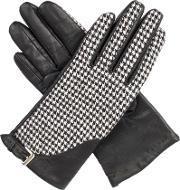 Dents , Womens Gloves With Touchscreen Leather, Blackwhite