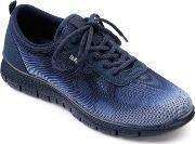 Hotter , Stellar Active Lace Up Shoes, Navy