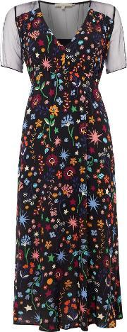 Little White Lies , Short Sleeve Crew Neck Dress With Floral Print, Multi Coloured