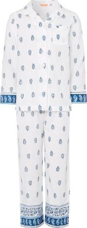 Sunuva , Girls Ikat Paisley Pyjama Set, Blue