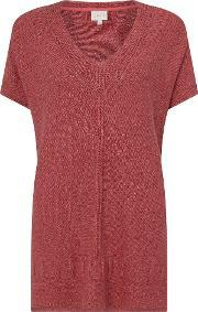 East , Oversized Texture Jumper, Red