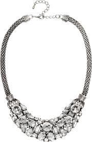 Adele Marie , Oval Mesh Rope Diamante Collar Necklace