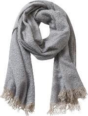 Betty & Co , . Long Textured Fringed Scarf