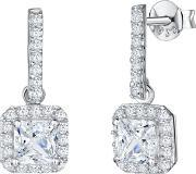 Jools By Jenny Brown , Long Bar Square Cubic Zirconia Drop Earrings