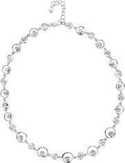 Jools By Jenny Brown , Sterling Silver Circle Cubic Zirconia Necklace