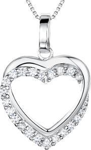 Jools By Jenny Brown , Sterling Silver Tangled Pave Heart Pendant