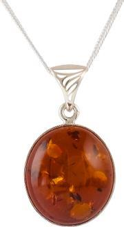 Bejewelled , Be Jewelled Amber Pendant Necklace