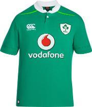 Canterbury Of New Zealand Rugby World Cup , Canterbury Of New Zealand Vapodri Ireland Home Short Sleeve Rugby Shirt