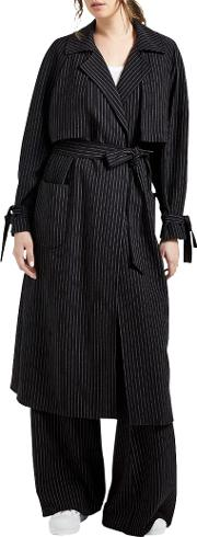 Grace & Oliver , Martha Pinstripe Trench Coat