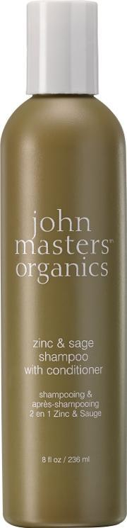 John Masters , Zinc & Sage Shampoo With Conditioner