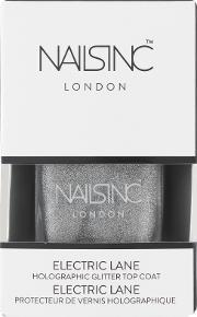 Nails Inc , Electric Lane Holographic Top Coat