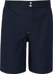 Hamilton And Hare , Made In England Blue Chip Cotton Lounge Shorts