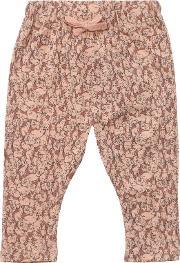 Wheat , Baby Bunny Print Baggy Leggings