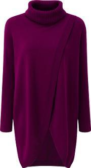 Pure Collection , Nora Split Front Tunic Jumper