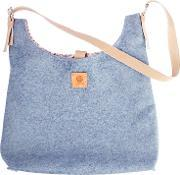 Butterfly Tree , Wool Handbag With Buckle Strap