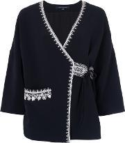 French Connection , Jasmine Stitch Embroidered Kimono