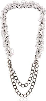 Alienina , Altrove Brass And Nylon Chain Necklace