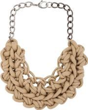 Alienina , Knotted Cotton Rope Necklace