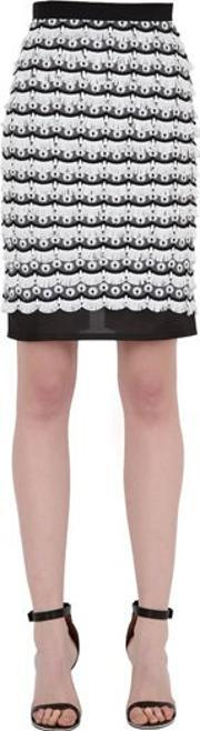 Dagda , Embroidered & Fringed Pencil Skirt