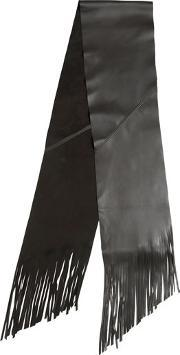 Gtie , Fringed Leather Scarf