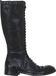 Jo Ghost , Lace Up Leather Boots