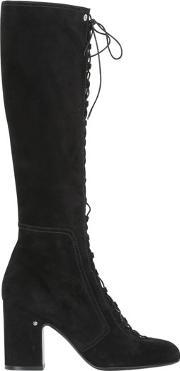 Laurence Dacade , 70mm Mina Lace Up Suede Boots