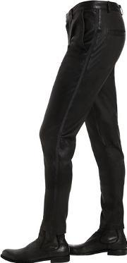 The Kooples , Smooth Stretch Leather Tuxedo Pants