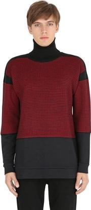 Var City , Micro Houndstooth Wool Sweater