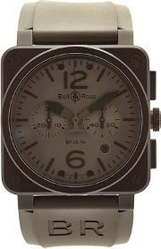 Bell & Ross , Br 03 94 Chrono Pvd Steel Watch