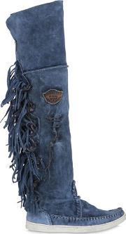 El Vaquero , 20mm Fringed Suede Over The Knee Boots