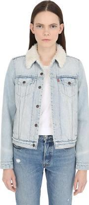 Levis Red Tab , Faux Shearling & Cotton Denim Jacket