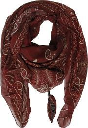 Htc Hollywood Trading Company , Palms Paisley Silk & Cotton Satin Scarf