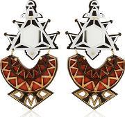 Anisha Parmar London , Ivory Collection Triangles Earrings