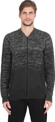 Adidas By Wings & Horns , Ombre Wool & Cotton Tracktop Sweater