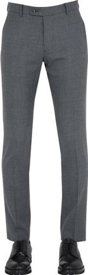 Berwich , Wool Blend Stretch Trousers