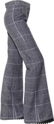 Calvin Klein Collection , Plaid Wool Flared Trousers