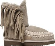 Mou , 20mm Eskimo Fringed Shearling Boots