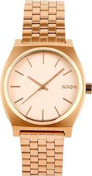 Nixon , Time Teller Rose Gold Finish Watch