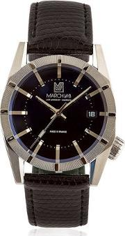 March Lab , Electric Watch W Embossed Leather Band