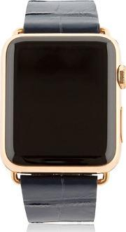 Hadoro , 42mm Rose Gold Apple Watch W 3 Band Set
