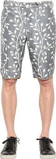 08 Sircus , Silk Blend Canvas Shorts