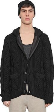 08 Sircus , Wool Blend Cable Knit Cardigan