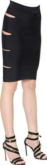 Alexandre Vauthier , Cutout Stretch Viscose Knit Mini Skirt