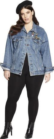 Beth Ditto , Embroidered Vintage Denim Jacket